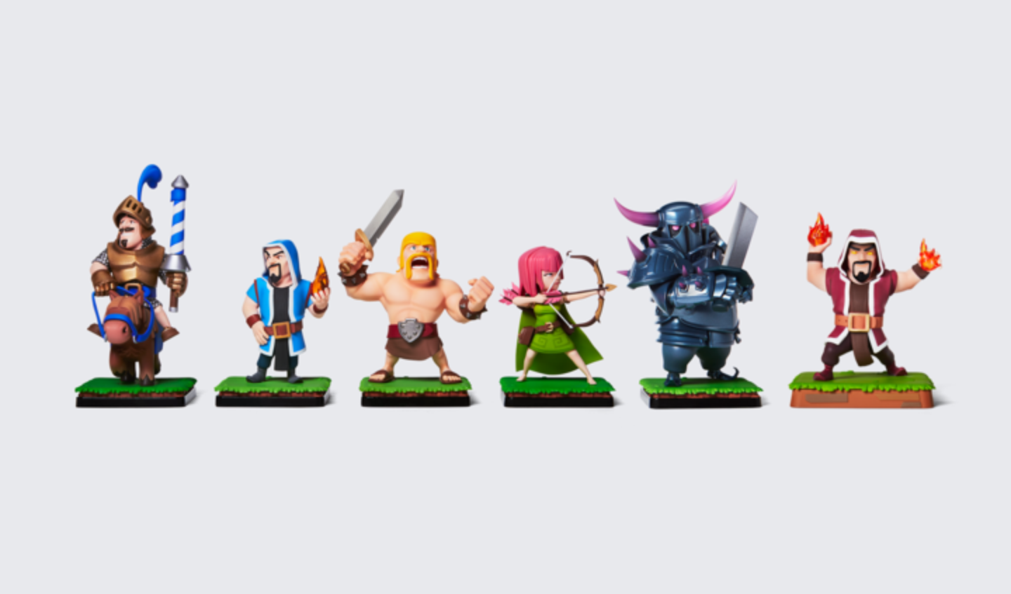 New Clash Of Clans People The Making Of Clash Figures
