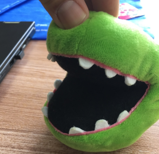 Early prototype for Baby Dragon Plush Mouth